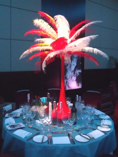 Feather Tower Table Centre