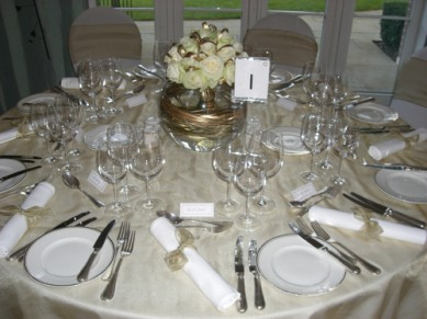 White rose centrepiece